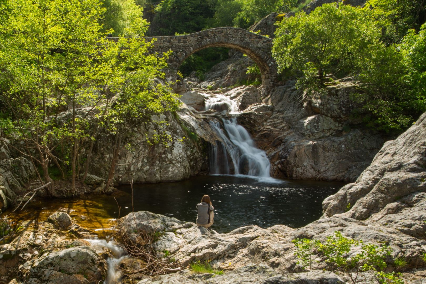 """Comment Fabriquer Un Petit Pont En Bois pont """"romain"""" : que faire en ardèche jaujac   ardeche-guide"""