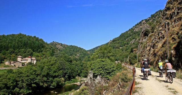 La Dolce Via l'Ardèche à vélo en famille