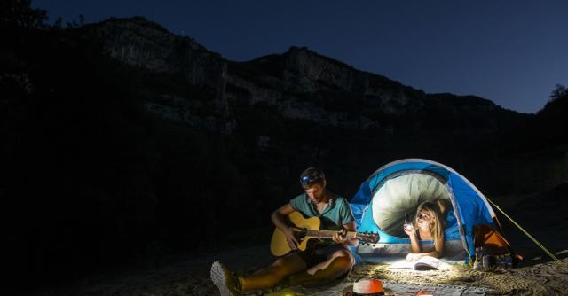 Descente des Gorges de l'Ardèche en 2 jours en canoë - kayak avec nuit en bivouac