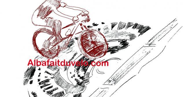 Alba fait du vélo