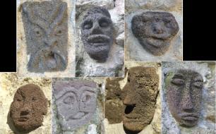"""Circuit """"les ruelles aux 100 sculptures"""" au coeur du village d'Antraïgues"""
