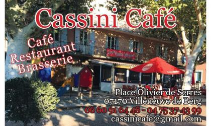 Le Cassini -restaurant brasserie- à Villeneuve de Berg