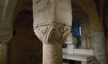 OTI Cruas - Chapiteau de la crypte XI è siècle