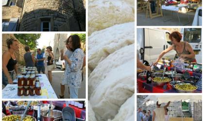 Laureline Fusade - Marché paysan à Chassiers (Ardèche)