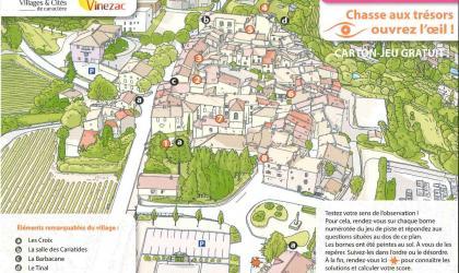 ADT Ardèche - Carton de jeu Chasse au Trésor Vinezac