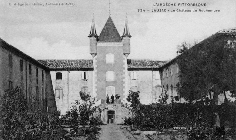 ©Ed. Artige et fils ©mairiedejaujac - Jaujac - Château de rochemure, vieille carte postale ©Ed. Artige et fils ©mairiedejaujac