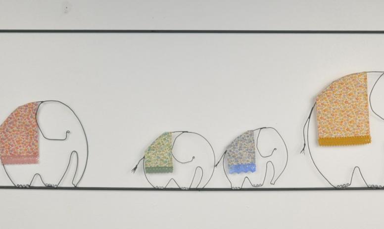 C. Liogier - Eléphants famille