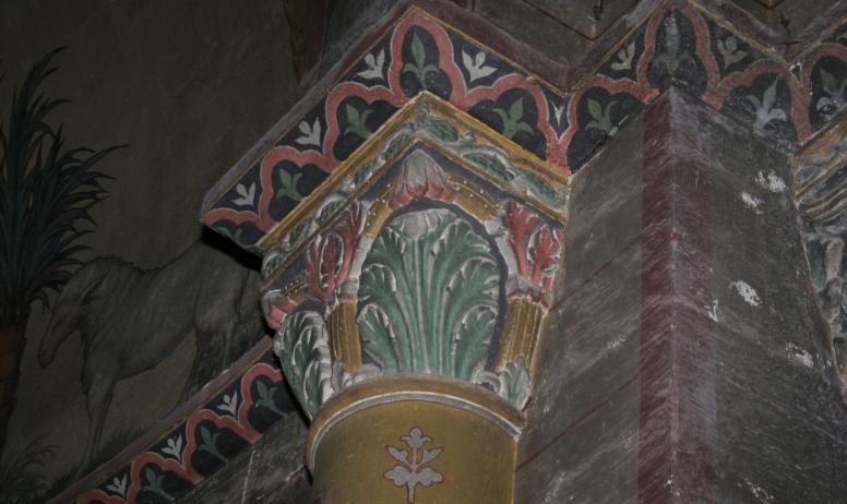 Hermitage Tournonais Tourisme - Chapiteau de l'église Saint Martin de Vion