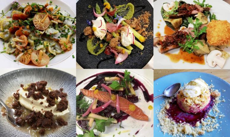 """© SARL Sainte Anne - Quelques plats servis au bar-restaurant """"Bistrot St. Anne / Maison Cornu"""""""