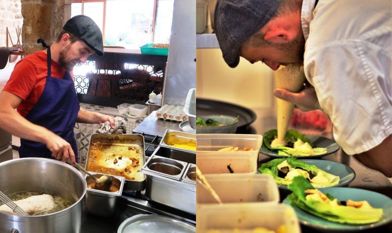 © SARL Sainte Anne - Le chef Jean Rubini en cuisine