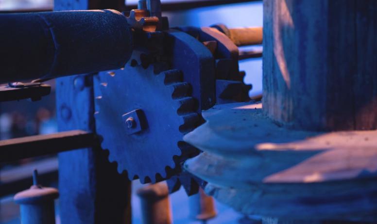 ©Simon BUGNON - 2019 - Chirols - Écomusée du moulinage - Rouage de machine