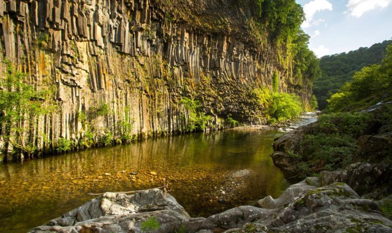 ©S.BUGNON - Fabras - Orgues basaltiques dans la vallée du Lignon-3 ©S.BUGNON