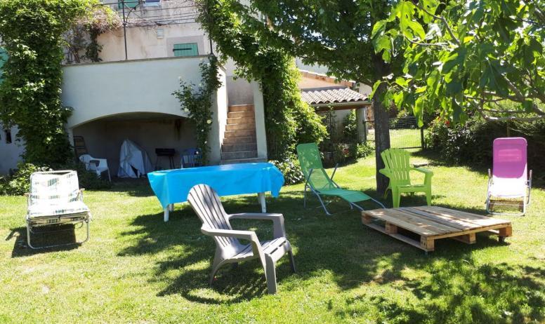 Gîtes de France - jardin privatif et salon de jardin , barbecue
