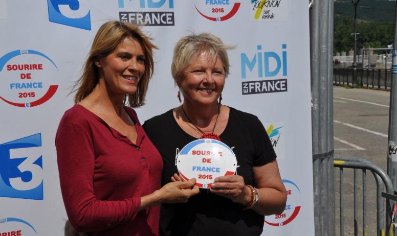 Gîtes de France -  Emission midi en France  en 2015 ,, sourire de France