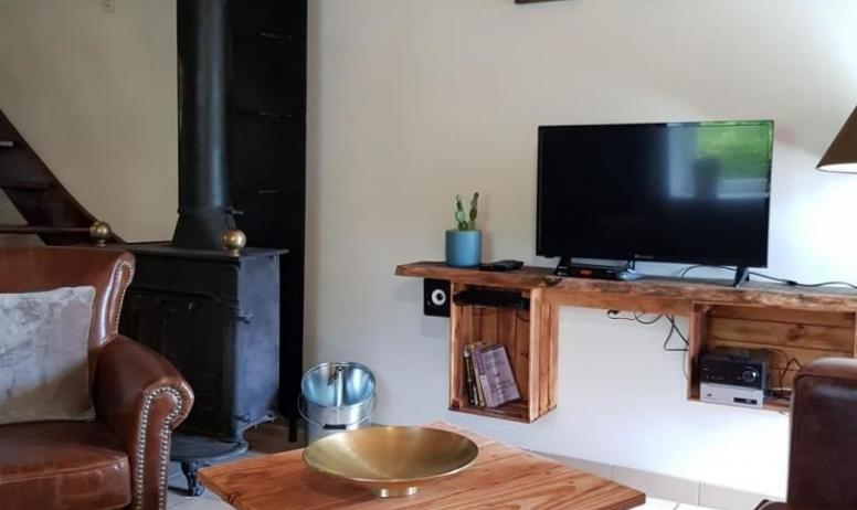 Gîtes de France - Salon avec TV, DVD, WIFI