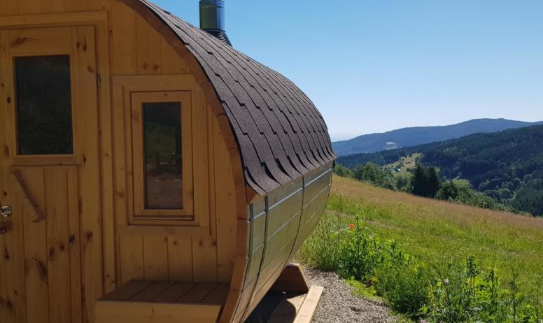 Gîtes de France - Sauna tonneau extérieur