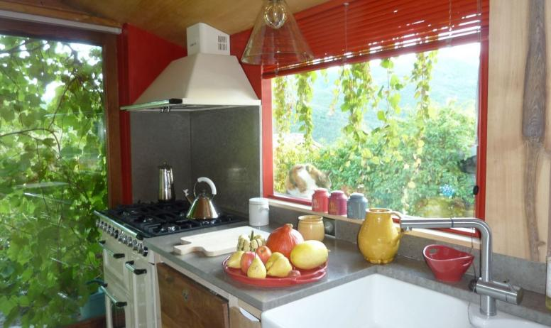 Gîtes de France - cuisiner devant la vue magnifique...quel bonheur!