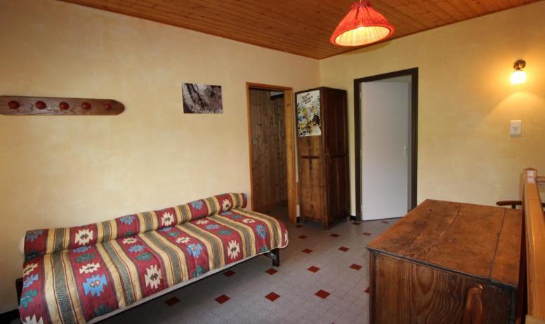 Gîtes de France - Le lit d'appoint sur le palier à l'étage