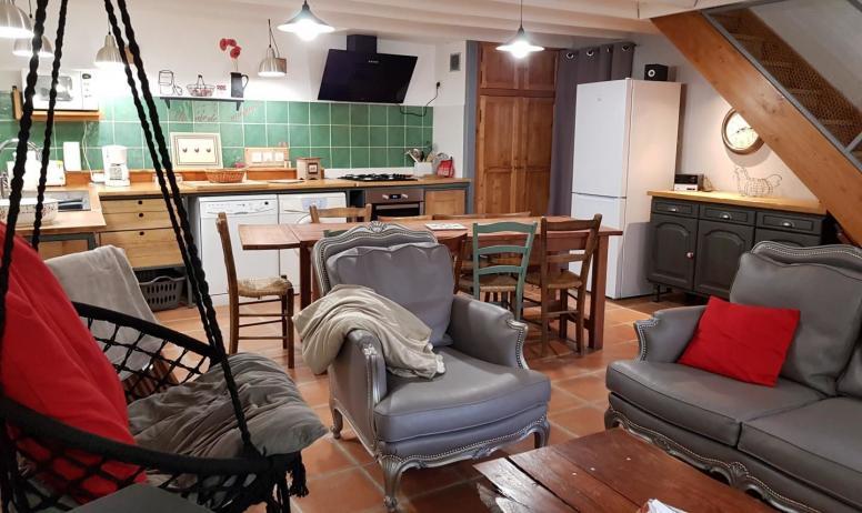 Gîtes de France - Cuisine équipée et ouverte sur salon