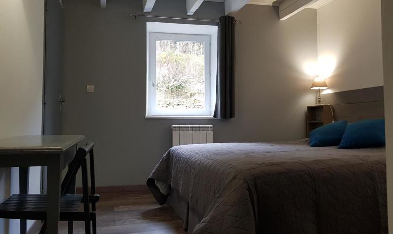 Gîtes de France - Chambre 1 avec 1 lit en 160