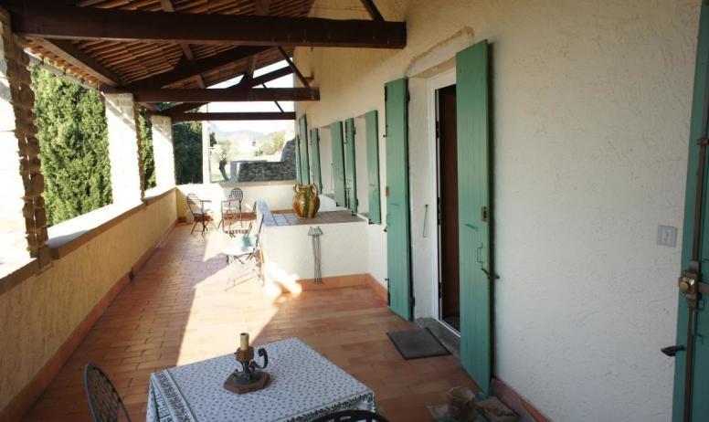 Gîtes de France - terrasse chambre florentine et lucculus