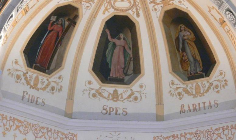 ©OTASV - Jaujac - Eglise St Bonnet, fresques intérieures ©OTASV