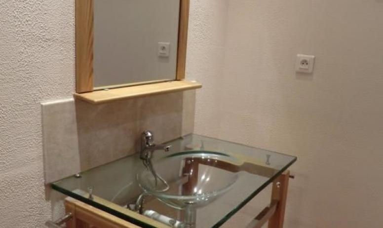 Gîtes de France - Salle d'eau mini-suite.