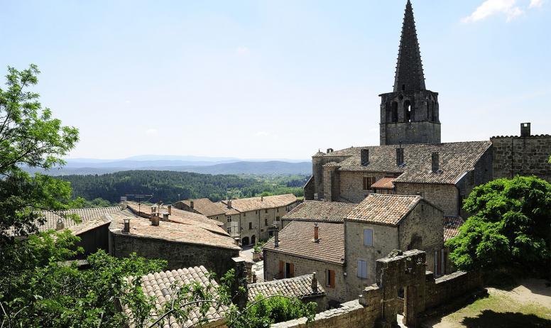 Mathieu Dupont - Eglise Saint Hilaire et panorama depuis Chassiers