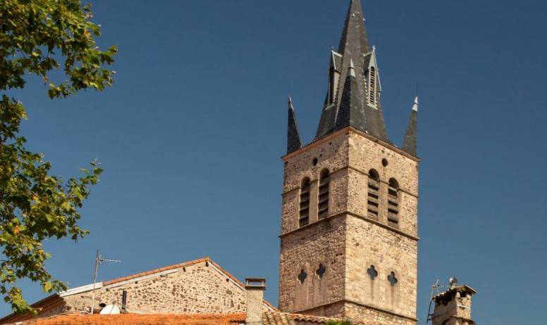 ©S.BUGNON - Thueyts - Visite guidée du village-zoom tour de l'église ©S.BUGNON
