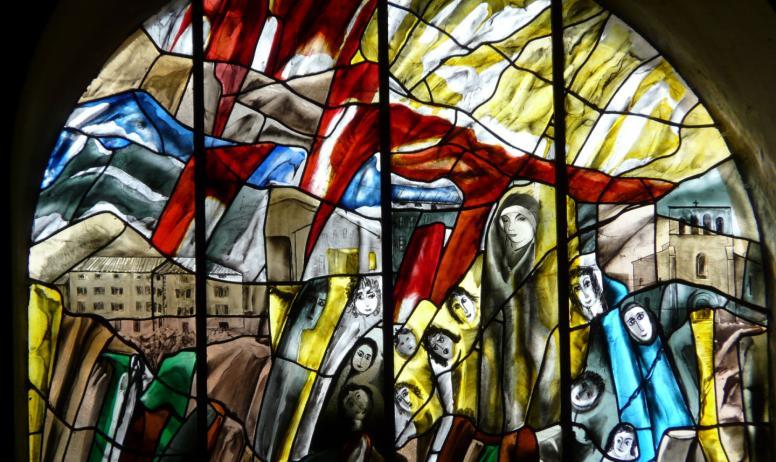 ©OTASV - Thueyts - Vitraux église Thueyts - Vitraux église St Jean Baptiste-2 ©OTASVSt Jean Baptiste ©OTASV