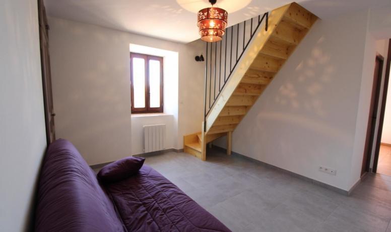 Gîtes de France - coin salon/jeux situé à l'étage