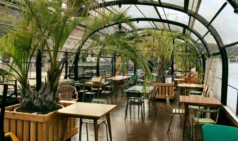 La Péniche Slow food Café - Terrasse couverte