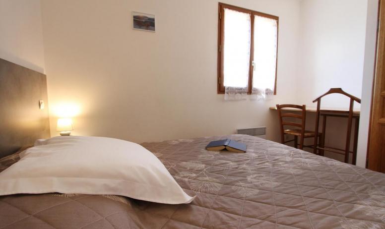 Gîtes de France - chambre  avec lit 160 cm (2x80)