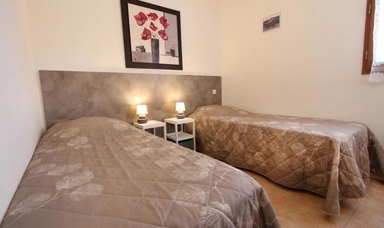Gîtes de France - chambre avec lits jumeaux
