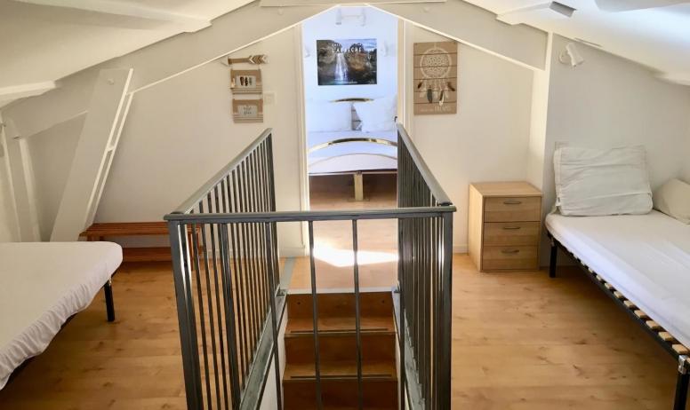 Gîtes de France - mezzanine 3 lits simples