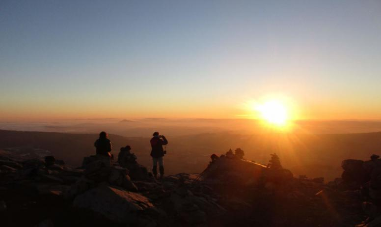 Massif central randonnées - Coucher de soleil Mt Gerbier