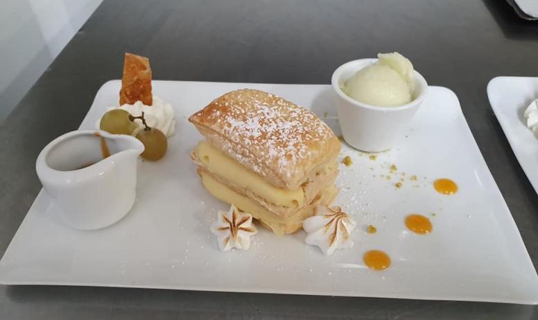 ©Restaurant Le Saint-Georges - millefeuille creme mousseline