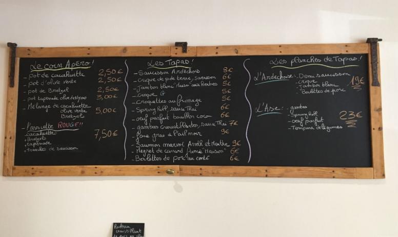 ©Restaurant le G - Restaurant le G - Ardoise
