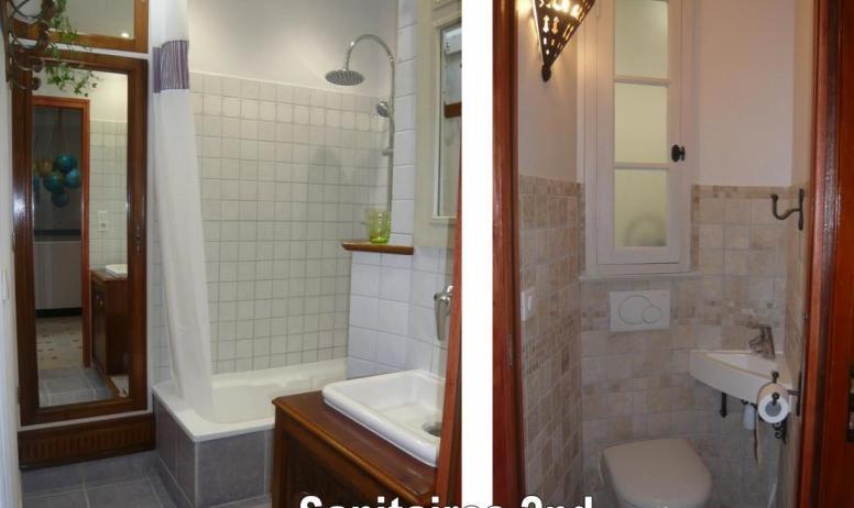 Gîtes de France - 2nd: Salle de bains et WC séparés
