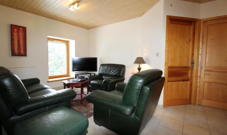 Gîtes de France - le salon situé à l'étage