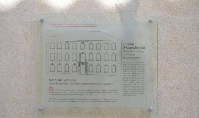 OTI du Rhône aux Gorges de l'Ardèche - Histoire de l'Hôtel de Fontanès