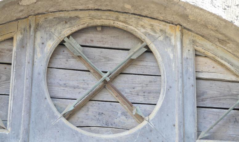 Oti du Rhône aux Gorges de l'Ardèche - Détail flêches croisées
