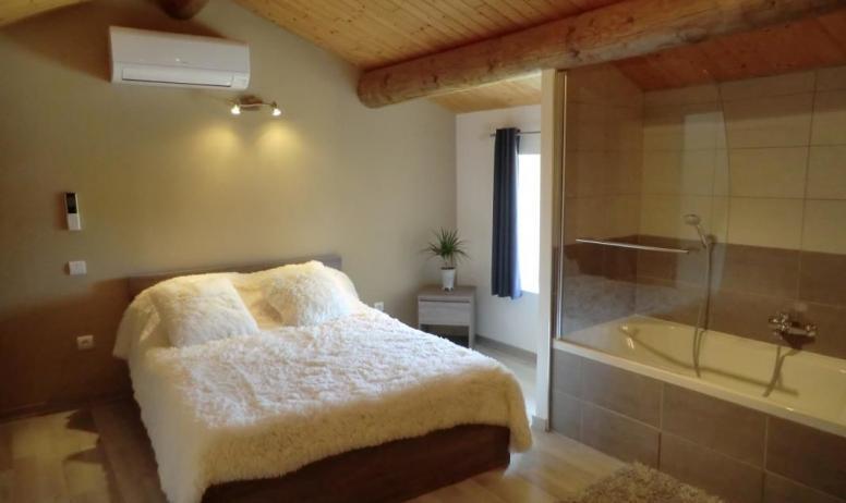 Gîtes de France - 2e chambre équipée d'un lit 2 personnes
