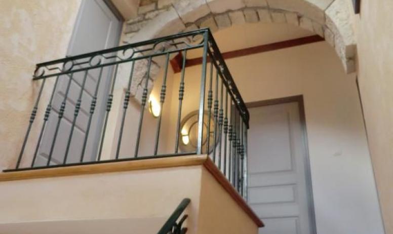 Gîtes de France - Accès aux 2 chambres de l'étage