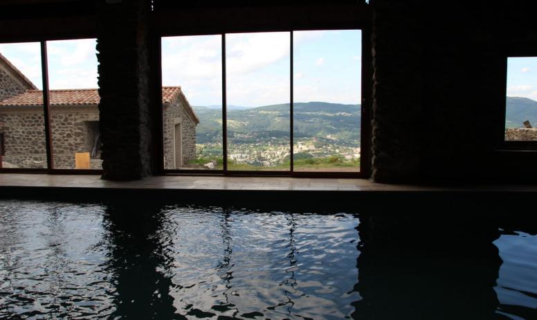 Vue depuis la piscine