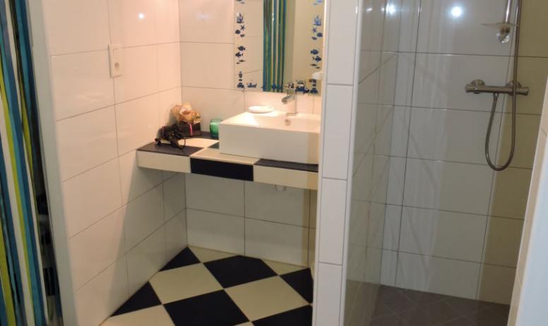 Mr et Mme Alleene - Chambres d'hôtes La Bergerie à Lussas - Salle d'eau chambre Sciotot
